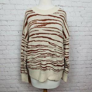 4SIENNA Rebecca Sweater Zebra Print In Ivory Brown